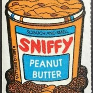 Vintage Mello Smello Sniffy Peanut Butter Sticker